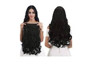 Pinaka Black Wavy/Curly Hair Extension